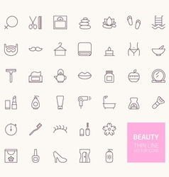 Beauty outline icons for web and mobile apps vector