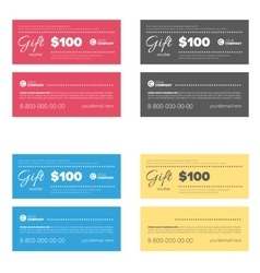 Gift coupon set vector