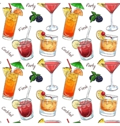 Color pattern new era drinks vector