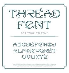 Thread line font vector