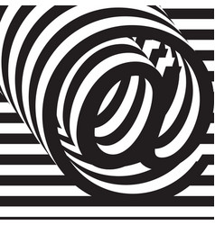 black and white design template symbol vector image vector image
