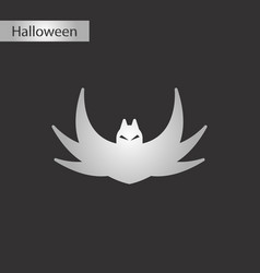 black and white style icon halloween bat vector image