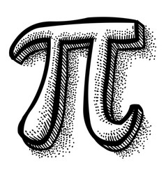 Cartoon image of pi symbol vector