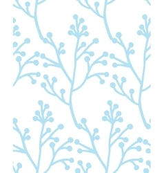Christmas Rustic Seamless Pattern with branch vector image
