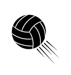 Contour ball to play volleyball icon vector