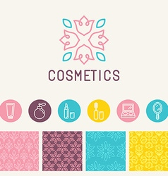 cosmetics logo design element vector image vector image