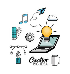 creative big idea icons vector image vector image