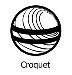 croquet icon simple black style vector image
