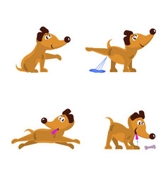 cute little dogs set vector image vector image