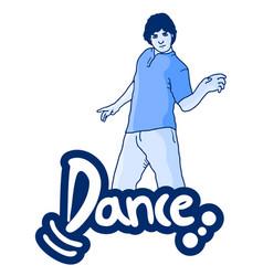 Dance man vector