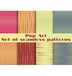 Dotted Pop Art seamless pattern vector image