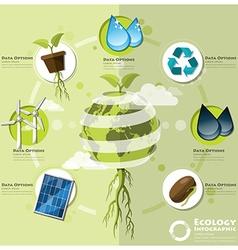 Ecology and environment infographic element vector