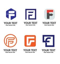 elegant letter f logo concept vector image vector image