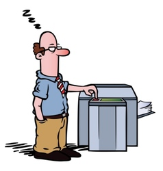 Employee copy machine vector