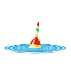 float for rod fishing in water vector image vector image