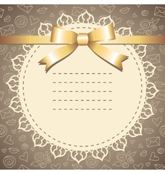 frame with lace vector image vector image