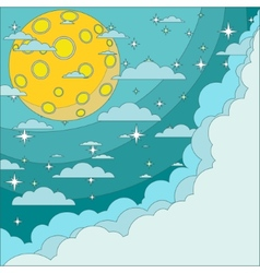 Full moon on background of the night sky vector image