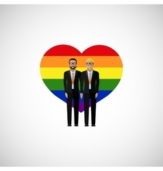 gay marriage flat vector image vector image