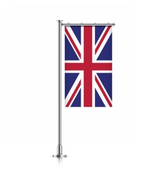 Great britain flag hanging on a pole vector