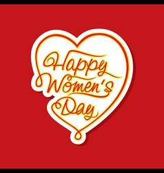 happy women day sticker or label design vector image