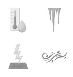 Humidity icicles thunderbolt windy weather vector