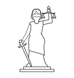 Lady justice icon vector