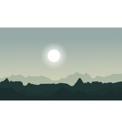 Landscape of desert background collection vector image