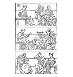 Miltons ode on christs nativity is a print that vector