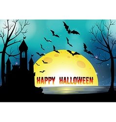 Poster of Happy Halloween vector image