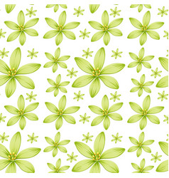 seamless background design with green flowers vector image vector image
