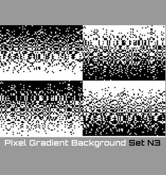 set of pixel technology gradient backgrounds vector image vector image