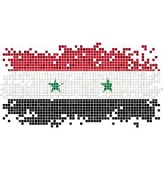Syrian grunge tile flag vector