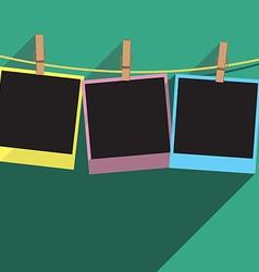 three photos frame vector image