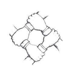 Grop of human hand icon Gesture design vector image