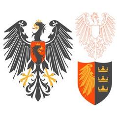 Black eagle vector