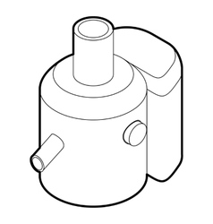 Juicer icon in outline style vector