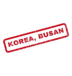 Korea busan rubber stamp vector