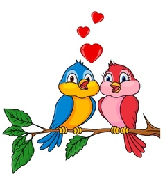 Birds with love vector