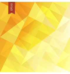 Yellow triangles abstract background eps10 vector