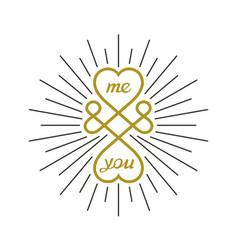 Creative love symbol vector