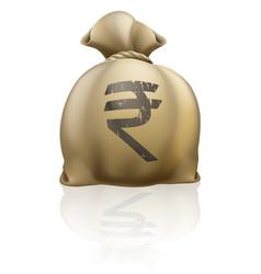 rupee money sack vector image