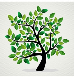 Green leaves tree vector
