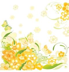 summer flower card vector image