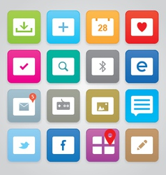 Clean and simple icons vector image
