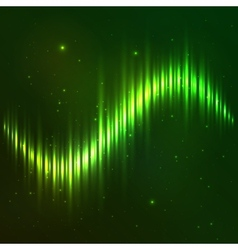 Green shining wave equalizer vector