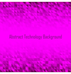Abstract Violet Geometric Technology Background vector image