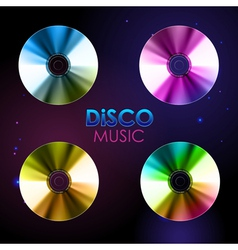 Disco abstract background set of record or disk vector