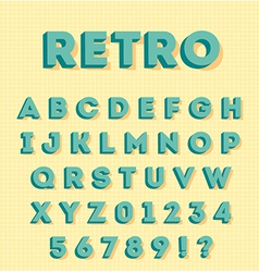 Graphic 3d retro characters vector