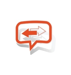 Opposite message sticker orange vector