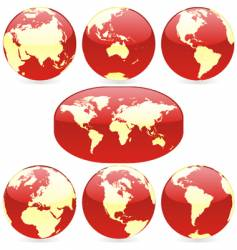 world globes and map vector image